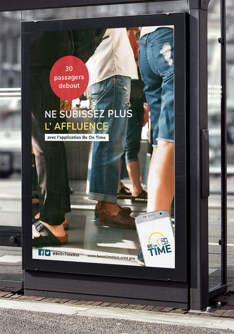 Campagne publicitaire Be on time